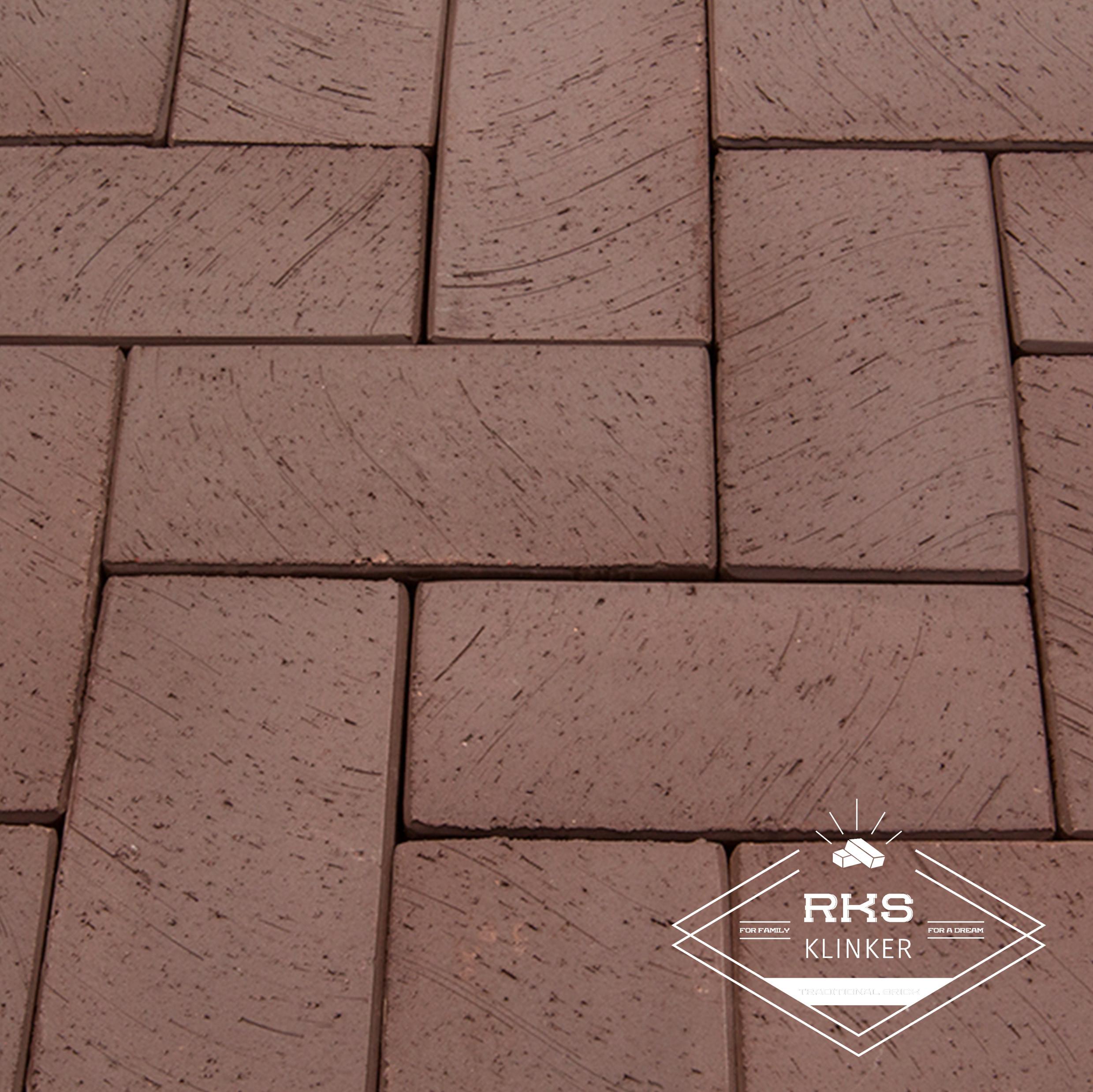 Клинкерная тротуарная плитка LODE, Brunis, коричневый в Саратове